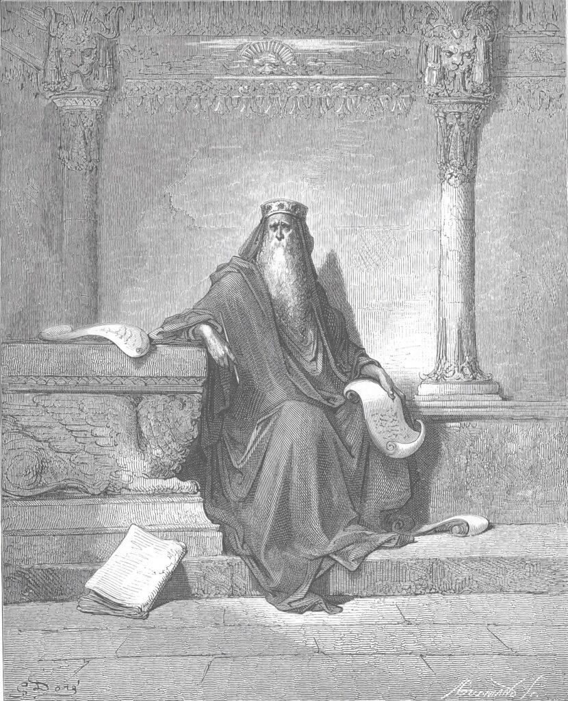 Gustave Doré – Starý král Šalomoun (King Solomon in Old Age)   Zdroj Wikimedia Commons