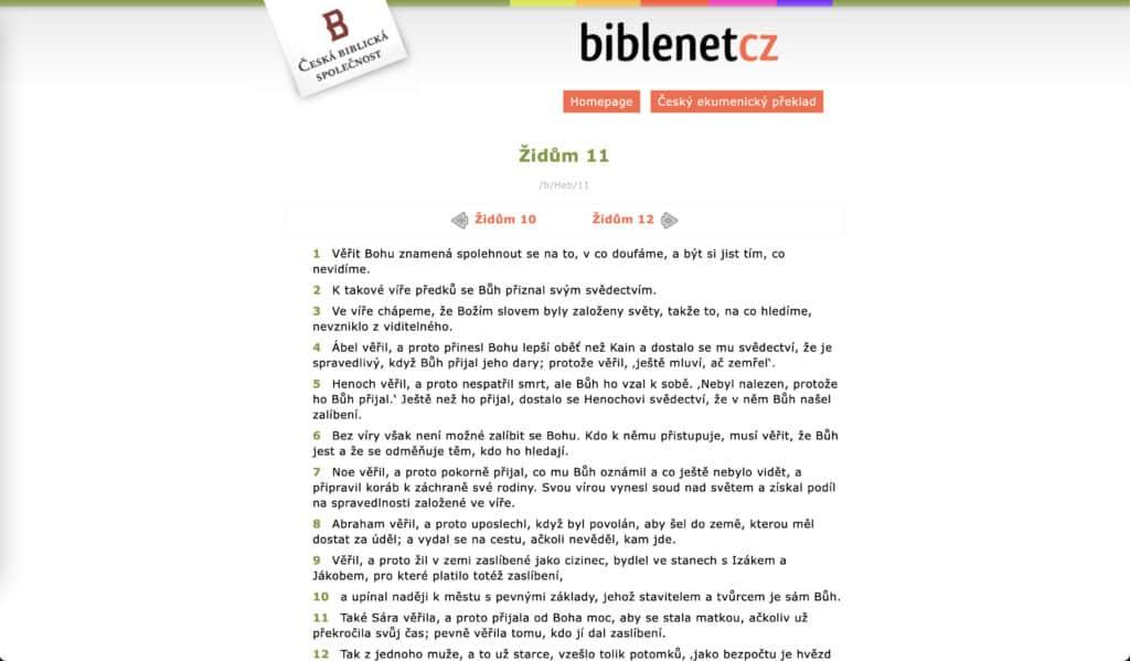 Web Biblenet.cz