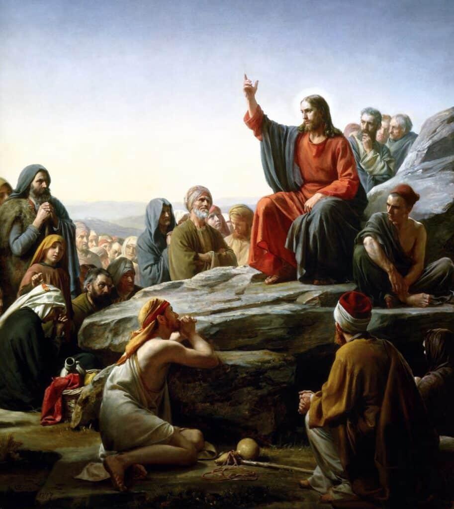 Carl Bloch, Kázání na hoře   Zdroj Wikimedia Commons